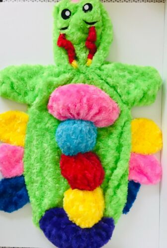 Infant Baby 0-6 Months Halloween Bunting Costume Colorful Green Caterpillar Worm