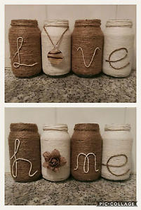 Vases/ candle holders hand decorated Maryland Newcastle Area Preview
