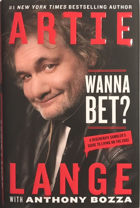 "Artie Lange from The Howard Stern Show Autographed Book ""Wanna Bet"" w/ JSA COA"