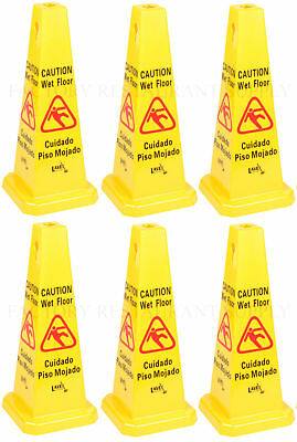 6 Pack Commercial Caution Wet Floor Yellow Cone 27 Free Shipping Usa Only 48