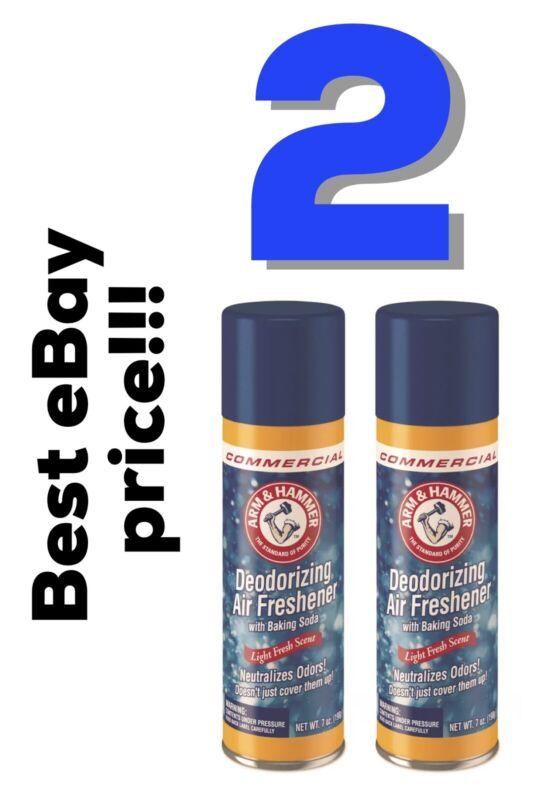 2 Baking Deodorizing Soda Air Freshener Fresh Scent Aerosol Commercial Lot 7oz