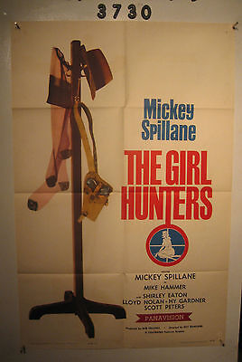 The Girl Hunters Orig, 1sh Movie Poster 63 Mickey Spillane pulp fiction, sexy