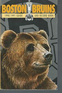 1990-1991-Boston-Bruins-Official-NHL-Hockey-Guide-and-Record-Book-Yearbook