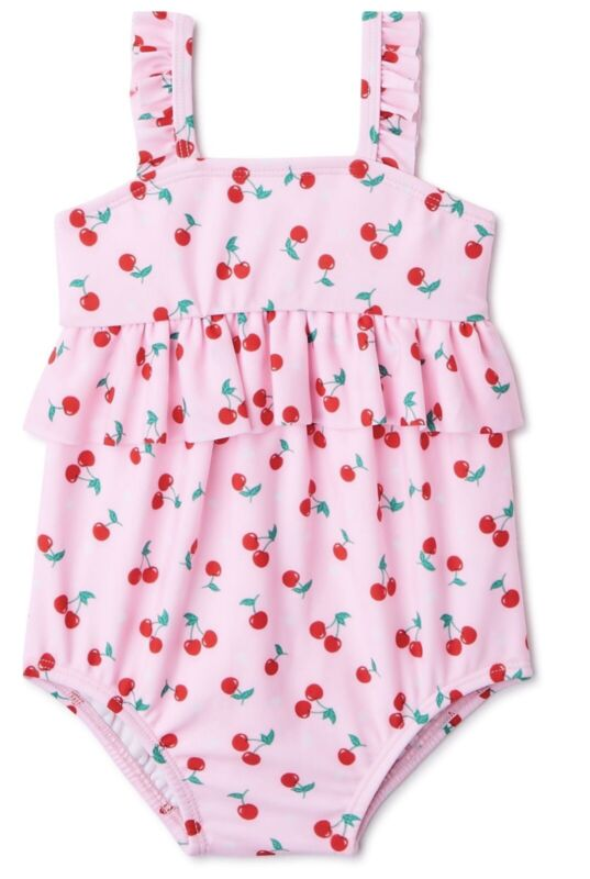 WN Baby Girls 1pc Cherries Bathing Suit  Size 12  Months NWT
