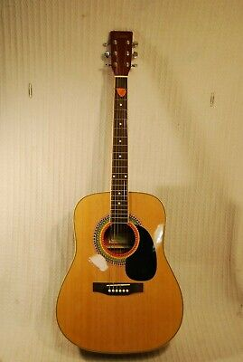 Encore Acoustic Full Size Guitar with carry case.