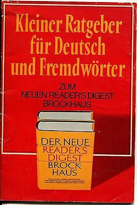 Kleiner Ratgeber für Deutsch und Fremdwörter