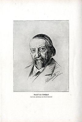 Kunst Von Gott (Der Dramatiker Rudolf von Gottschall von Anton Klamroth Kunstdruck von 1909)