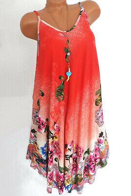 Sommerkleid Zipfel Kleid Strandkleid Midi Übergröße Kleid Orange Blumen 44 46 48