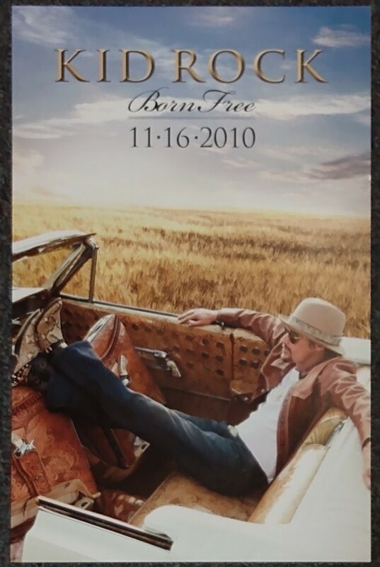 Kid Rock Born Free 2010 Double-sided PROMO POSTER