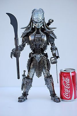 Predator classic (action 1, mask J ) Scrap Metal Sculpture Art Handmade Gift - Metal Predator Mask