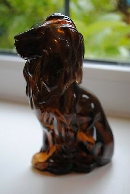 AVON WILD COUNTRY AFTERSHAVE BOTTLE BROWN GLASS TIGER
