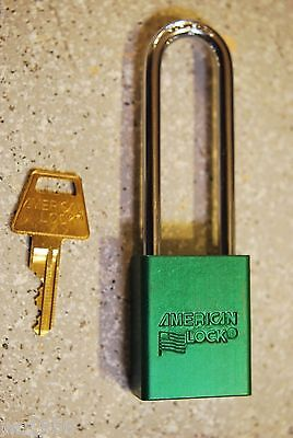 American Lock A1107nrgrn Series Padlock Solid Alum. Body 14 Hardened Shackle