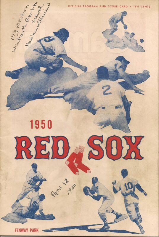 1950 Boston Red Sox-Yankees Program Opening Day Donnybrook!!