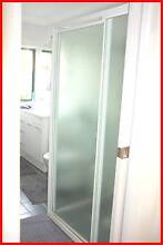 Shower Screen - Frosted Glass & White Aluminium Budgewoi Wyong Area Preview