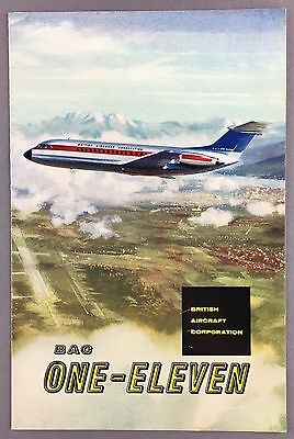 BAC1-11 ONE-ELEVEN MANUFACTURERS SALES BROCHURE SEAT MAP