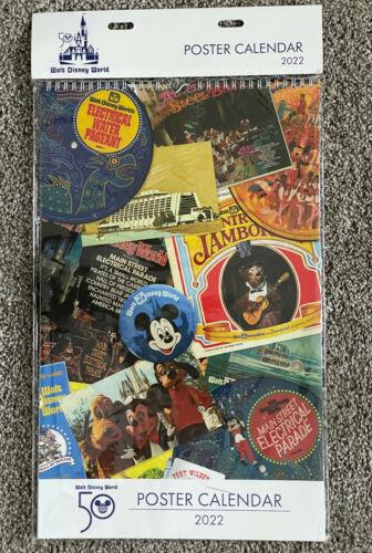 Walt Disney World 50th Anniversary Celebration 2022 Poster Calendar NEW