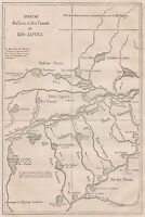 C1269 Système Des Lacs Et Des Canaux Du Rio Japura - 1867 Vintage Map -  - ebay.it