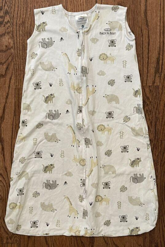 Halo Sleepsack Wearable Blanket Unisex Jungle Animals  Cotton Size M 6-12m
