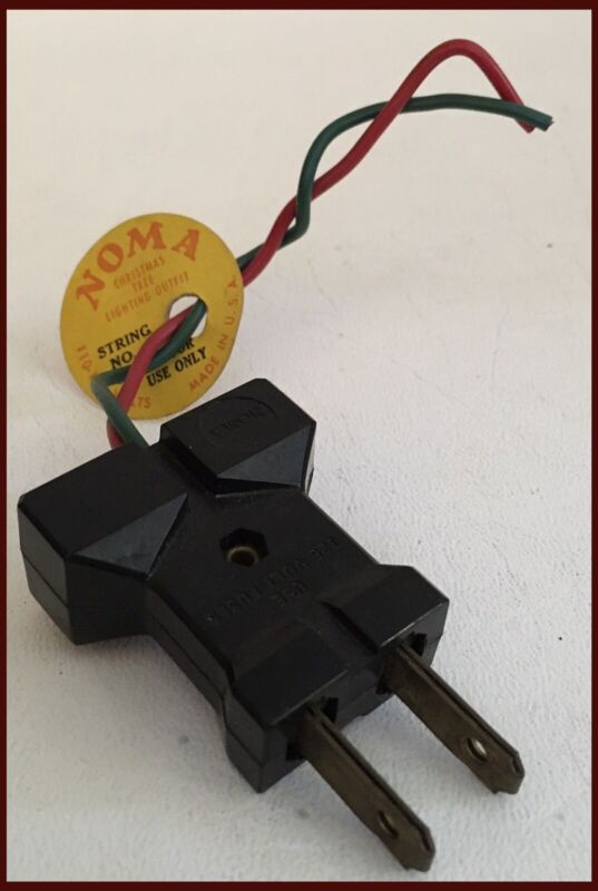 Vintage NOMA Christmas Tree Lighting Outlet/Plug 110-125 Volts - USA Made (N328)