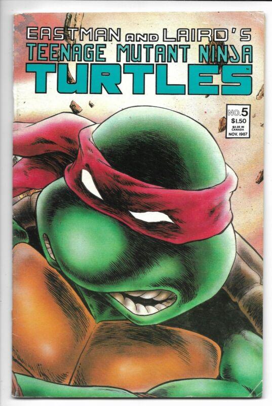 Teenage Mutant Ninja Turtles # 5 / 2nd Print /  Mirage Studios / 1987