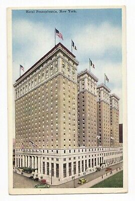 1920s Vintage Advertising Postcard - NEW YORK CITY - HOTEL PENNSYLVANIA