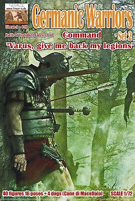 """1:72 FIGUREN 010 Germanic Warriors Set 2 """"COMMAND"""" - LINEAR-A NEU"""