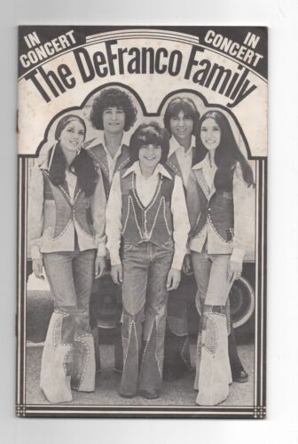 THE DEFRANCO FAMILY  IN CONCERT  FAN CLUB BOOKLET  C. 1974