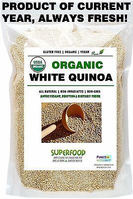 6 Lb 100  Fresh Usda Certified Organic  Premium Quinoa Vegan Gluten Free Nongmo