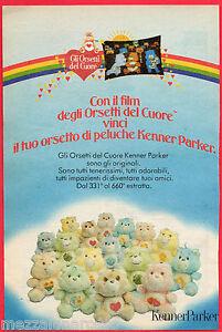 Pubblicita-Advertising-KENNER-PARKER-1986-Orsetti-del-cuore