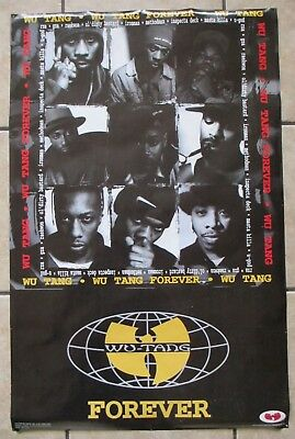 Wu-Tang Clan Vintage 90's Wu Tang Forever Poster Official Wu Wear Hip Hop