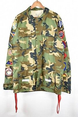 OFF-WHITE Embellished Camo Field Jacket (M / Camo) w/ Patches