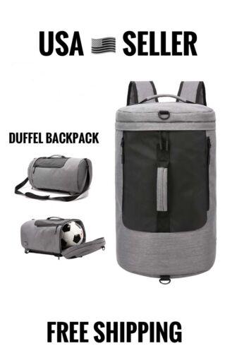 NEW Duffel Backpack Travel Bag Waterproof Shoulder Bag Grey