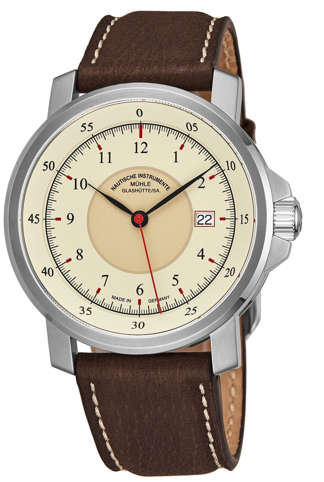 Muhle-Glashutte Men's M 29er Classic Leather Strap Automatic Watch M1-25-57-LB - watch picture 1
