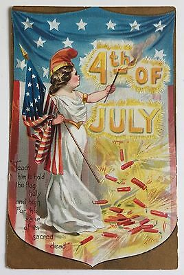 Tuck Independence Day Series 109 Postcard 4th of July Lady Liberty