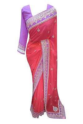 Asiatische Kleidung (Damen Kleidung Südafrika Asiatisch Exklusiv Bollywood Mode Saree Kostüm 7232)