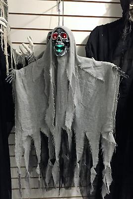 Halloween Hängendes Skelett Display Prop mit Bewegen Sprechen Kiefer &