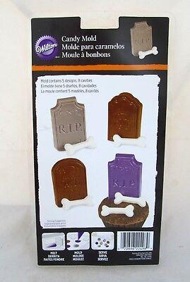 Wilton Cupcake Chocolate Candy Mold Tombstone Grave Bones Halloween Party Treat - Halloween Bones Candy