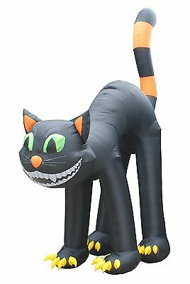 20 Foot Tall Animated Jumbo Party Halloween Inflatable Black Cat Yard Decoration