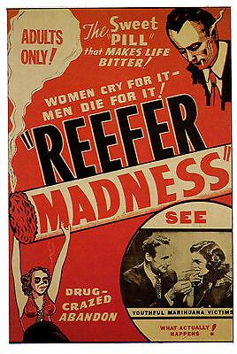 REEFER MADNESS POSTER. Cult film,  Exploitation.
