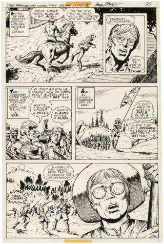 STAR-SPANGLED WAR STORIES #204 Page 25 Original Art DICK AYERS/BOB McLEOD 1977