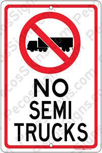 NO SEMI TRUCKS w/Symbol 8