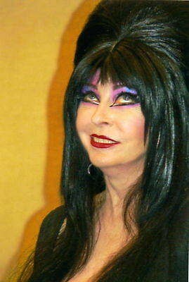 GLOSSY PHOTO PICTURE 8x10 Elvira With colorful makeup on The - Elvira Makeup