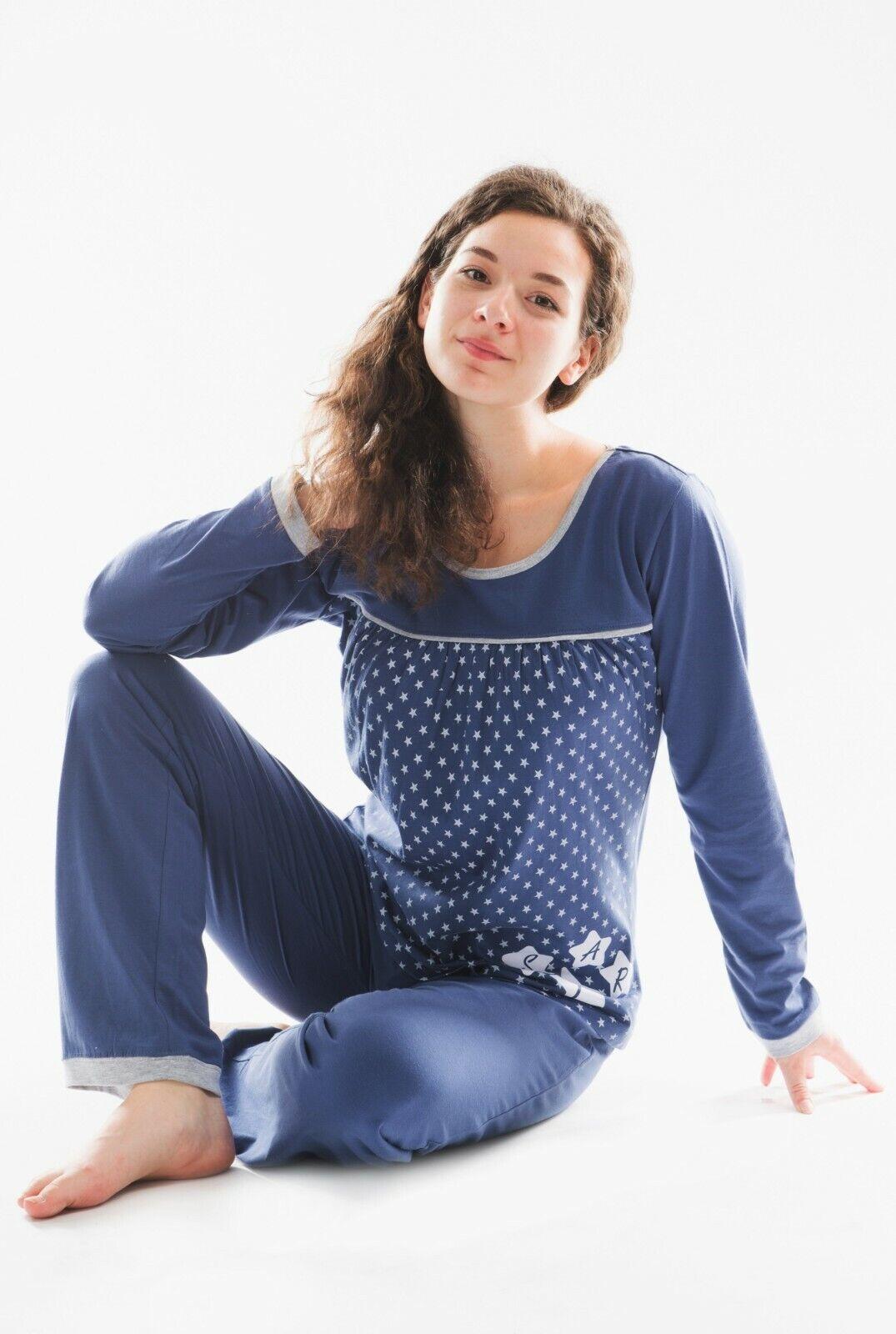 Damen Pyjama / Schlafanzug , reine Baumwolle-Jersey. Artikel SUN7aV