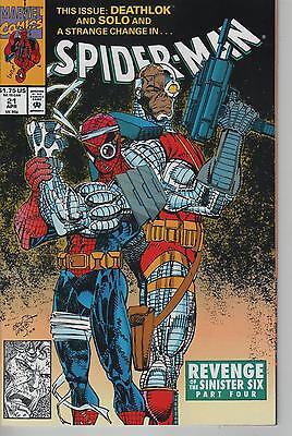 Spiderman #21 comic book Revenge Of The Sinister Six Part 4 Deathlok (Spider Man Revenge Of The Sinister Six)