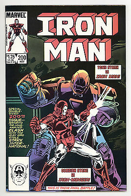 IRON MAN #200 VF VERY FINE 1ST APPEARANCE OF IRON MONGER MARVEL COMICS 1985