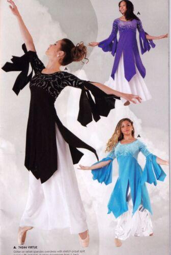 NWT Praise Velvet Overdress Liturgical Church Flyers Dance Rhinestone 4 Colors