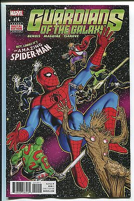Guardians Of The Galaxy  15   Kevin Maguire Cover   Spider Man App   Marvel 2016