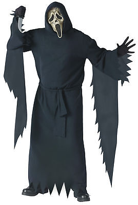 llector Ed Costume Adult Plus Deluxe Hooded Robe Halloween (Ghostface Robe)