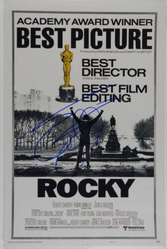 Sylvester Stallone Rocky Autograph Signed 18 x 12 Photo JSA COA
