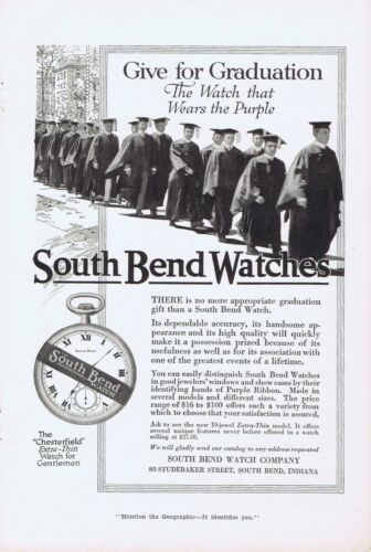 1916 Advertisement - SOUTH BEND WATCHES, SOUTH BEND, IN
